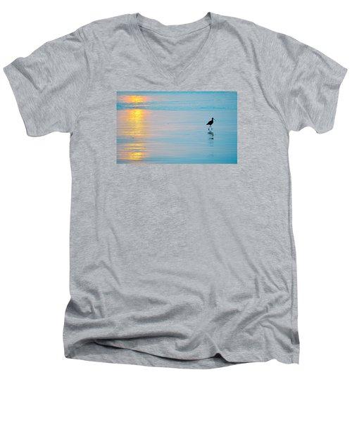Sunset Stroll Men's V-Neck T-Shirt