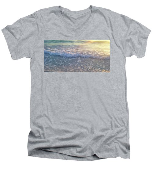 Sunset Tide Men's V-Neck T-Shirt by Ginny Schmidt