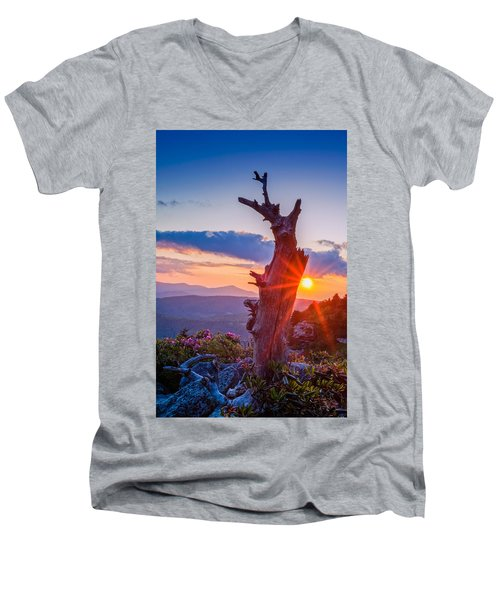 Sunset Tree Men's V-Neck T-Shirt