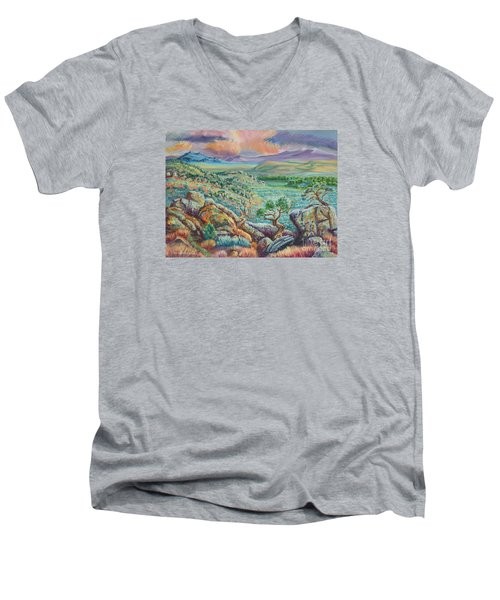 Sunset View From The Cedar Breaks Men's V-Neck T-Shirt