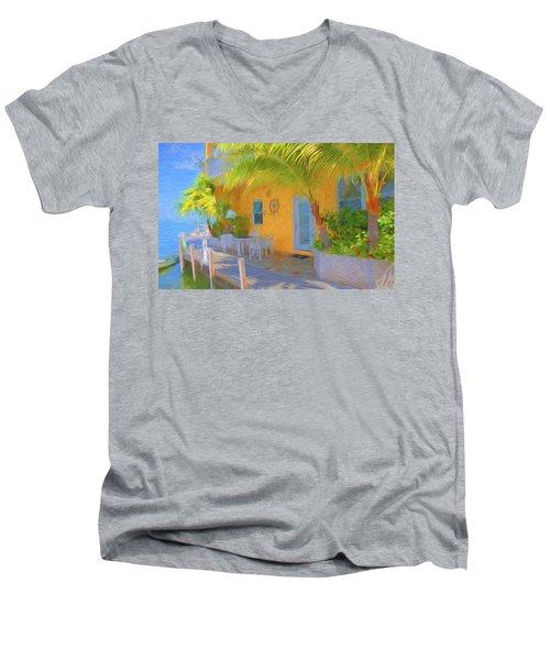 Sunset Villas Waterfront Apartment Men's V-Neck T-Shirt