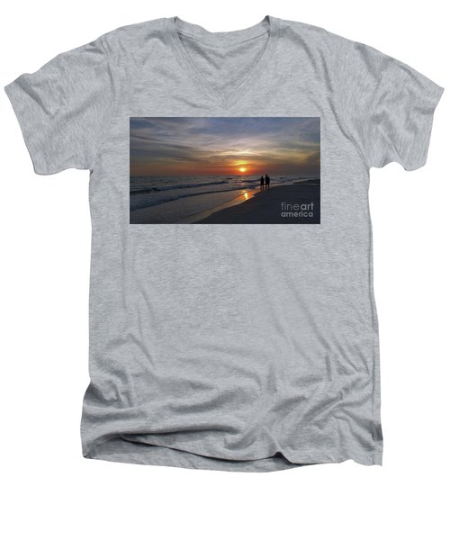 Men's V-Neck T-Shirt featuring the photograph Tranquility by Terri Mills