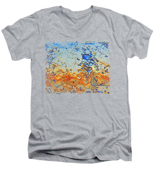 Men's V-Neck T-Shirt featuring the photograph Sunset Walk by Sami Tiainen