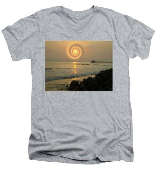 Sunsetswirl Men's V-Neck T-Shirt