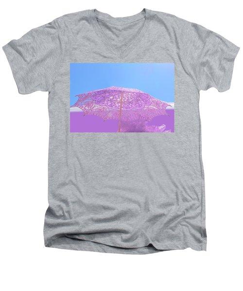 Sunshade In Pastel Color Men's V-Neck T-Shirt