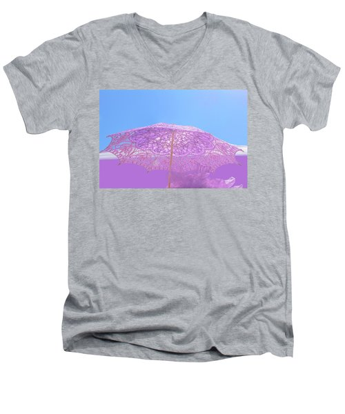 Sunshade In Pastel Color Men's V-Neck T-Shirt