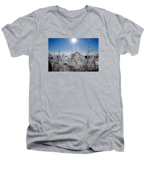 Sunshine And Ice Men's V-Neck T-Shirt by Sandra Updyke