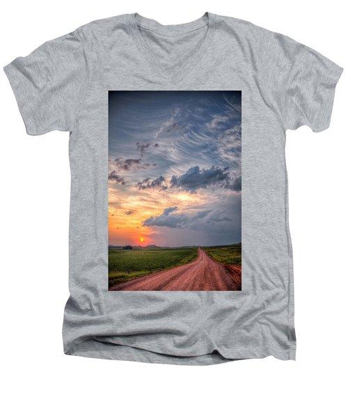 Sunshine And Storm Clouds Men's V-Neck T-Shirt