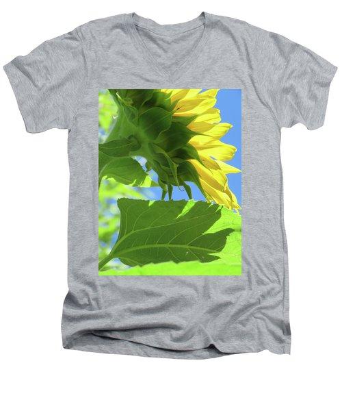 Sunshine In The Garden 19  Men's V-Neck T-Shirt by Brooks Garten Hauschild