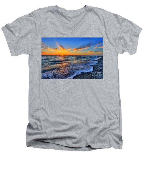 Men's V-Neck T-Shirt featuring the photograph Sunshine Skies by Scott Mahon