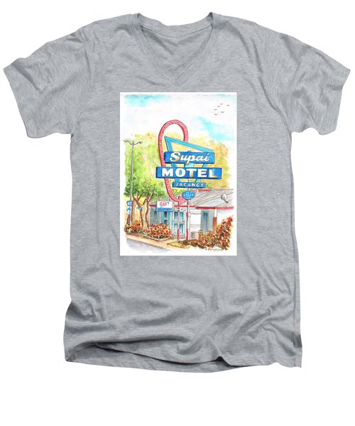 Supai Motel In Route 66, Seliman, Arizona Men's V-Neck T-Shirt