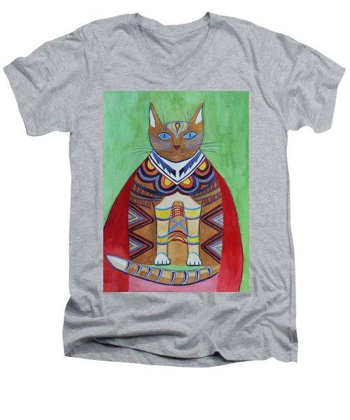 Super Cat Men's V-Neck T-Shirt