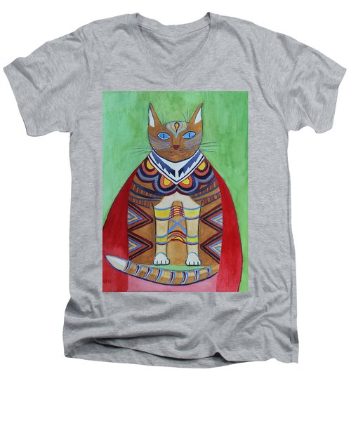 Super Cat Men's V-Neck T-Shirt