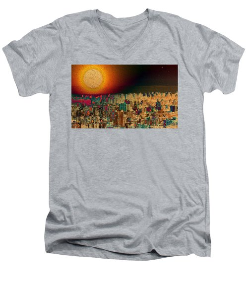 Super Moon Men's V-Neck T-Shirt