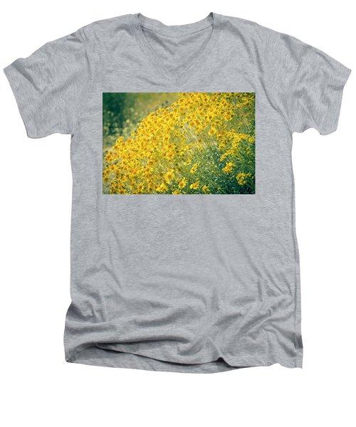 Superbloom Golden Yellow Men's V-Neck T-Shirt