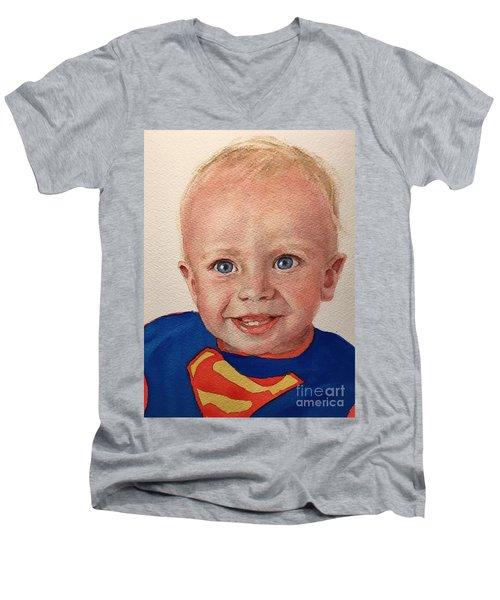 Superboy Men's V-Neck T-Shirt