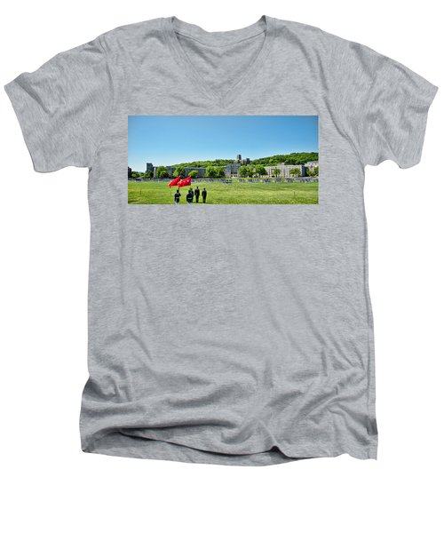 Superintendent's Review Wide Angle Men's V-Neck T-Shirt