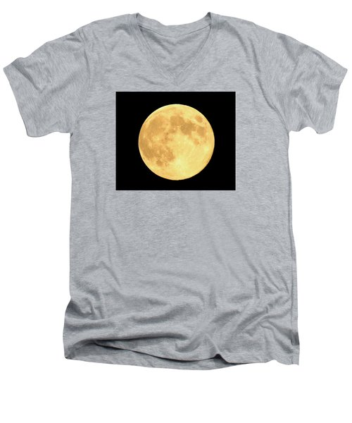 Supermoon Full Moon Men's V-Neck T-Shirt by Kyle West
