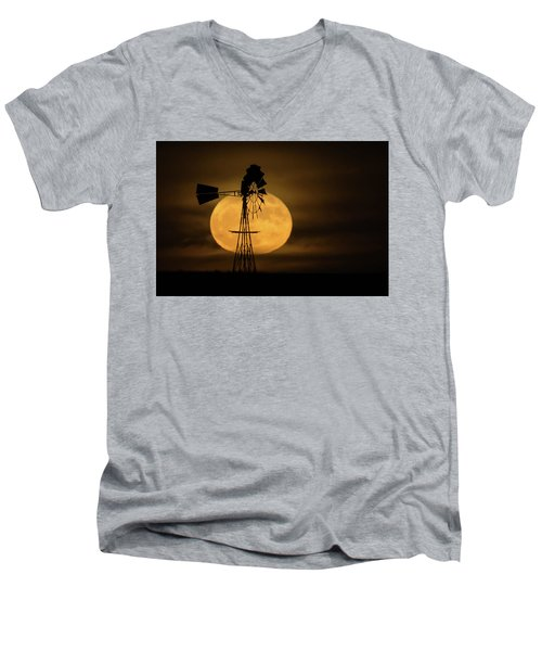 Supermoon Rise 4  11-14-2016 Men's V-Neck T-Shirt