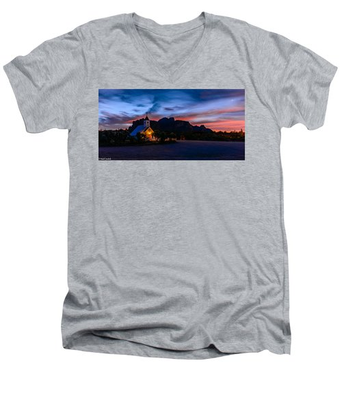Superstition Sunrise Men's V-Neck T-Shirt