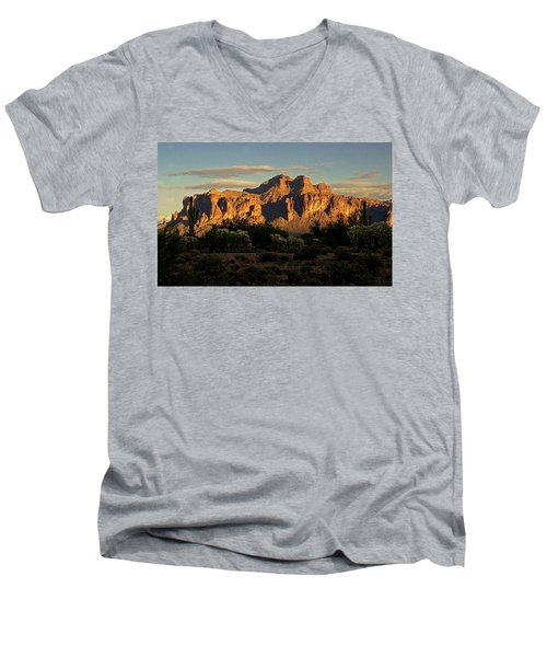 Superstitions At Sunset  Men's V-Neck T-Shirt