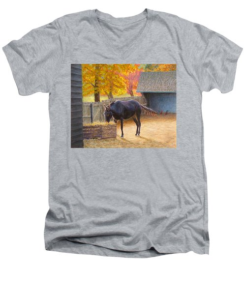 Supper Time Men's V-Neck T-Shirt by Joe Bergholm