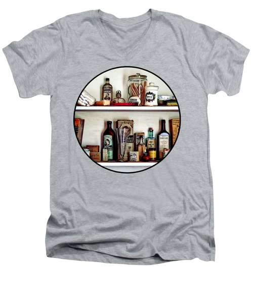 Supplies In Doctor's Office Men's V-Neck T-Shirt