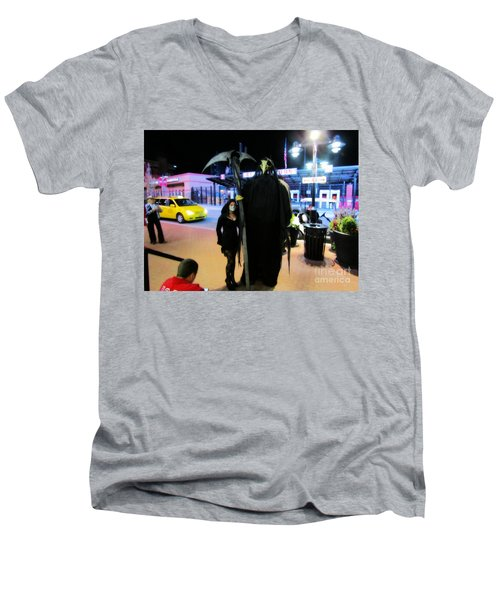 Surely The Night's Best Men's V-Neck T-Shirt by Kelly Awad
