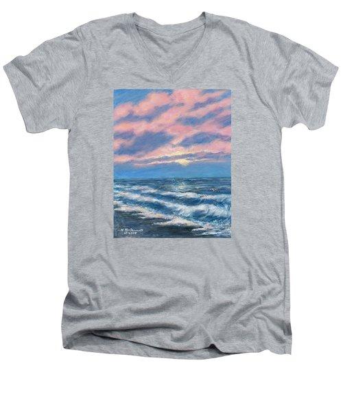 Surf And Clouds Men's V-Neck T-Shirt