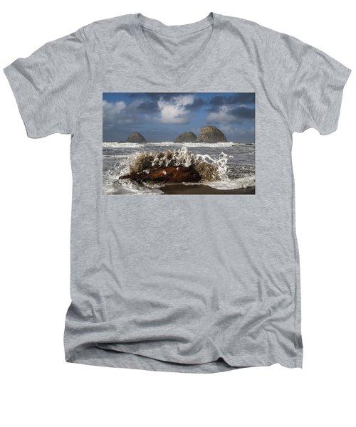 Surf And Three Arch Rocks Men's V-Neck T-Shirt