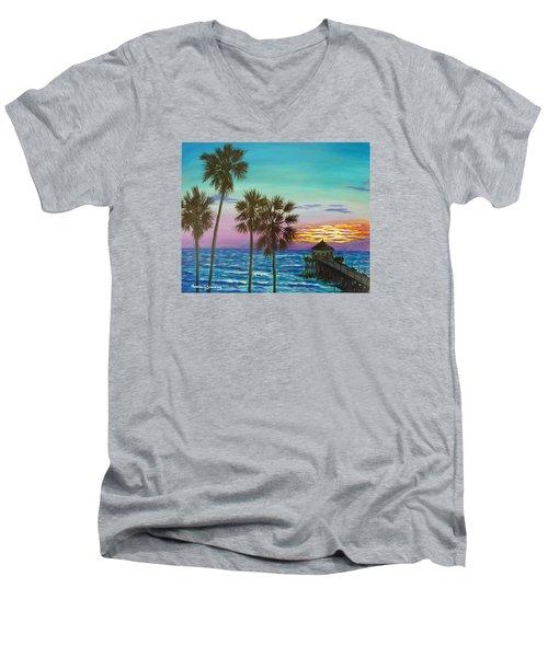 Surf City Sunset Men's V-Neck T-Shirt