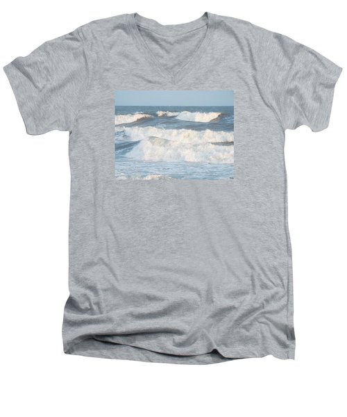Men's V-Neck T-Shirt featuring the photograph Surf Up by Jake Hartz