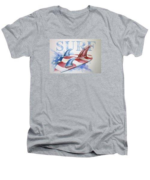 Surf Usa Men's V-Neck T-Shirt