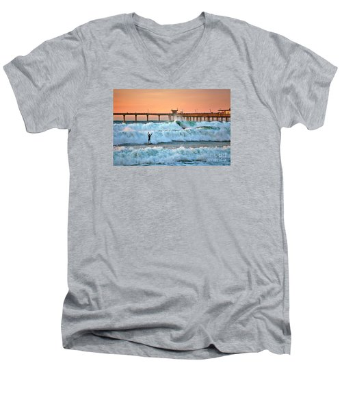 Surfer Celebration Men's V-Neck T-Shirt