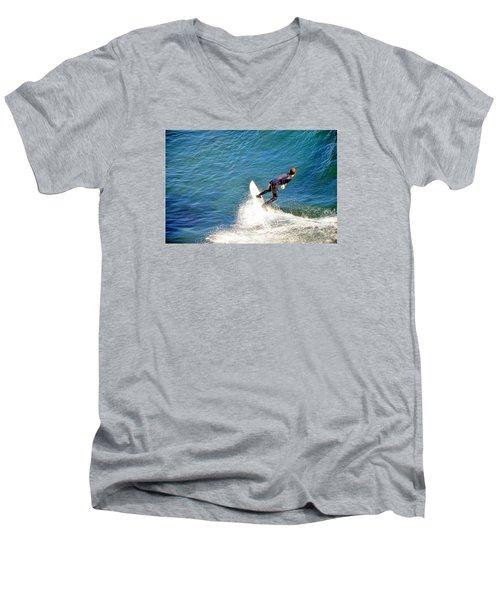 Surfer, Steamer Lane, Santa Cruz, Series 19 Men's V-Neck T-Shirt