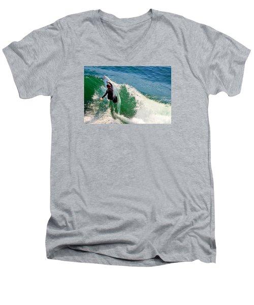 Surfer, Steamer Lane, Series 18 Men's V-Neck T-Shirt