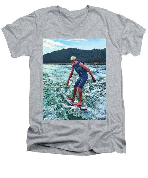 Surfer Tate Men's V-Neck T-Shirt