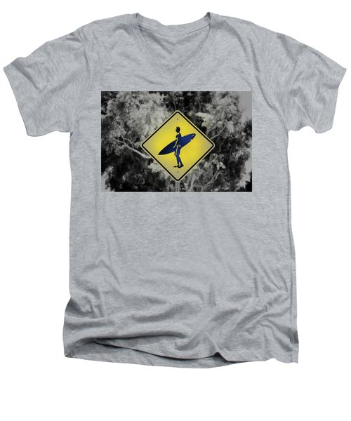Surfer Xing Men's V-Neck T-Shirt