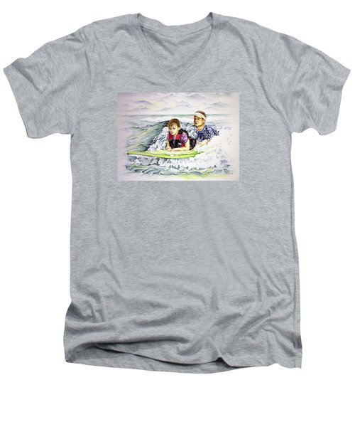 Surfers Healing Men's V-Neck T-Shirt