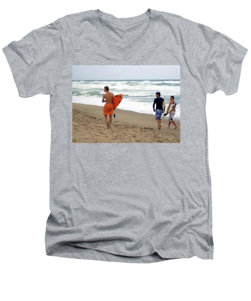 Surfs Up Boys Men's V-Neck T-Shirt
