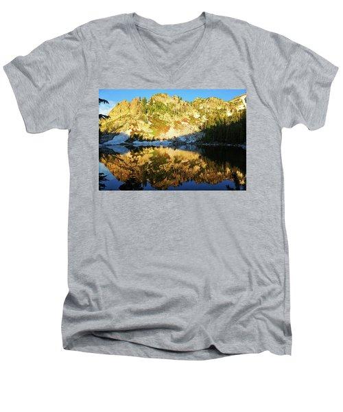 Surprise Lake Morning Reflections Men's V-Neck T-Shirt