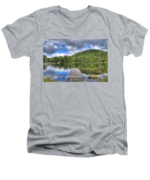 Men's V-Neck T-Shirt featuring the photograph Surprise Pond At Palmer Point by David Patterson