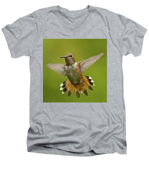 Surprise Men's V-Neck T-Shirt by Sheldon Bilsker
