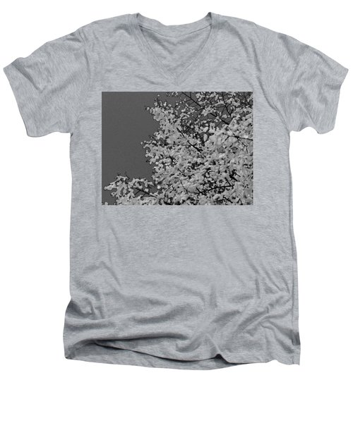 Surreal Deconstruction Of Fall Foliage In Noir Men's V-Neck T-Shirt