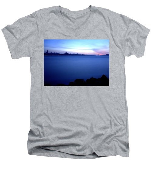 Surreal San Francisco Men's V-Neck T-Shirt