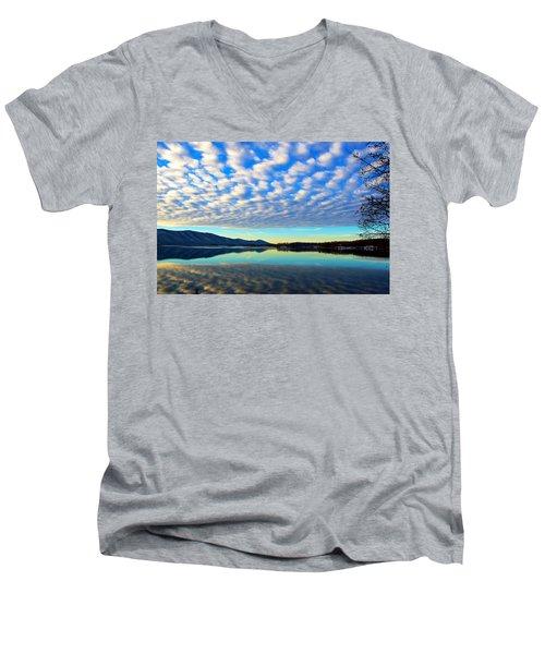 Surreal Sunrise Men's V-Neck T-Shirt by The American Shutterbug Society