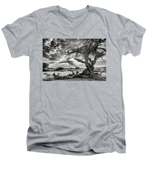 Surrealism At Its Best Men's V-Neck T-Shirt by Arik Baltinester