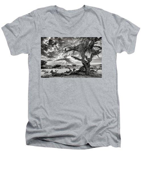 Surrealism At Its Best Men's V-Neck T-Shirt by Arik Baltinester