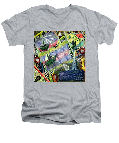Surrealism Of The Souls Men's V-Neck T-Shirt