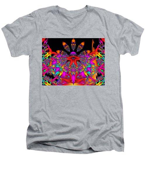 Men's V-Neck T-Shirt featuring the digital art Surrender by Robert Orinski